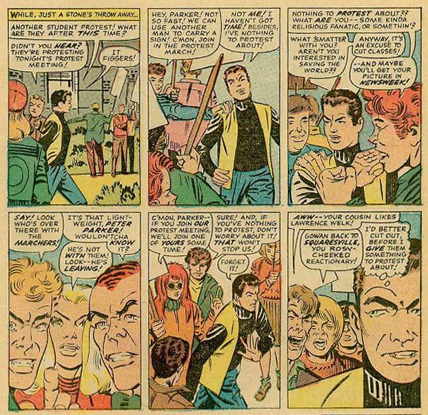 Spider-Man protesters Atomic Junk Shop