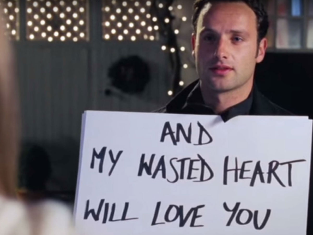 Andrew Lincoln in 'Love, Actually.'