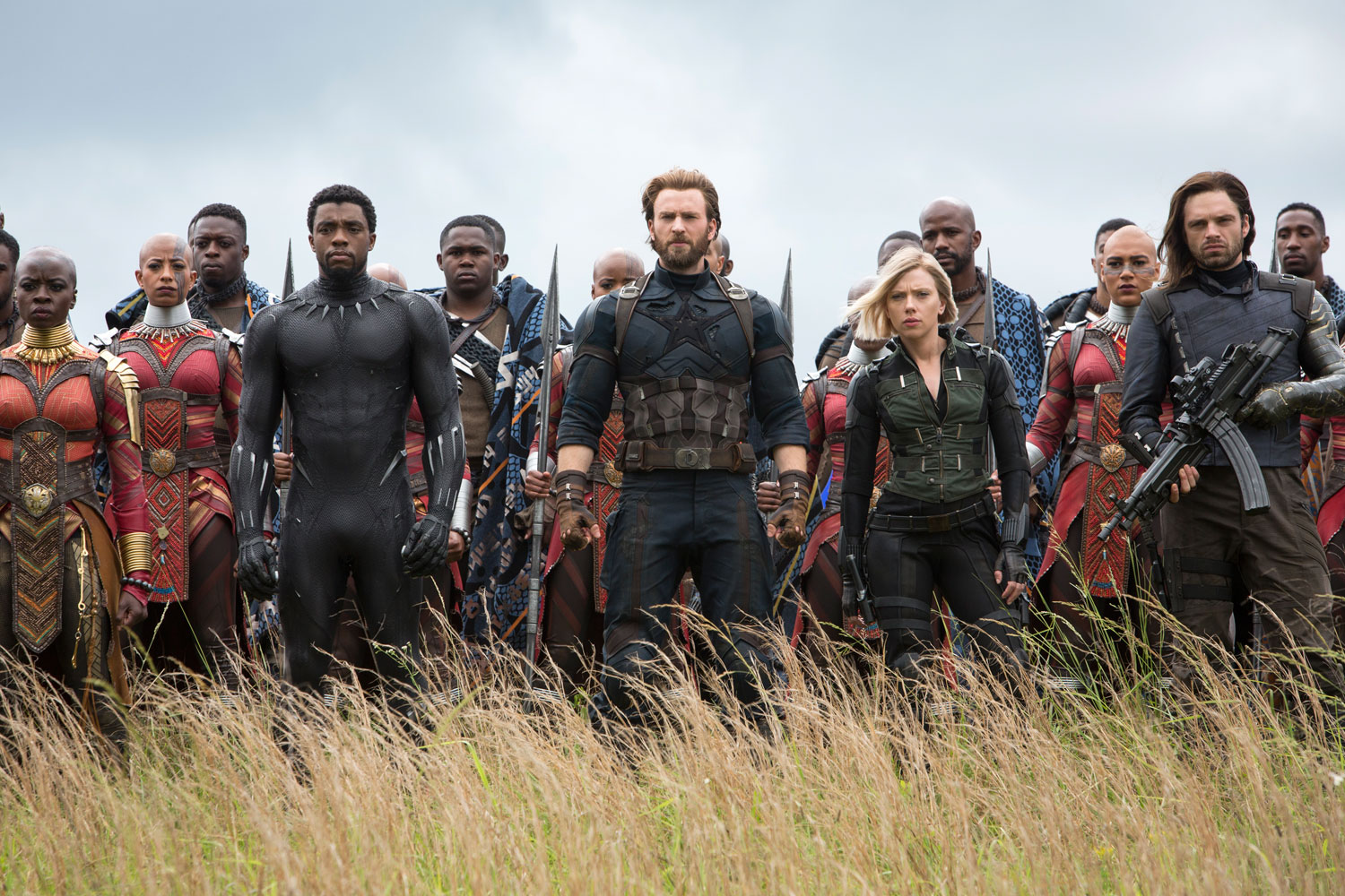 Heroes assemble to fight Thanos.