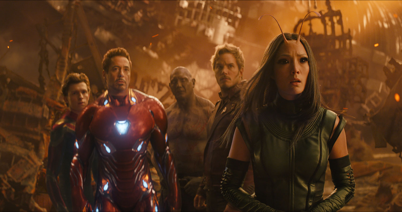 Iron Man, Drax, Peter Quill, Mantis