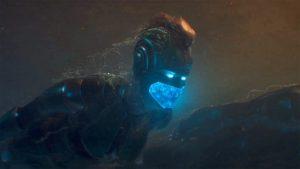 Captain Marvel has a faux-hawk, but no mirror.