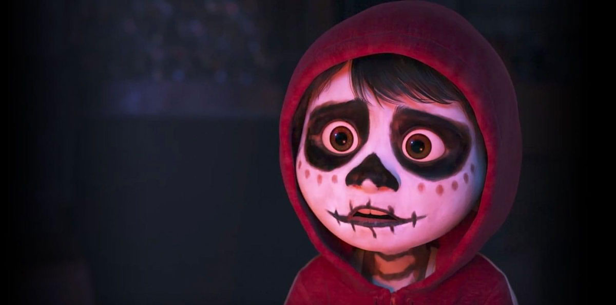 Miguel disguised as a skeleton in 'Coco'