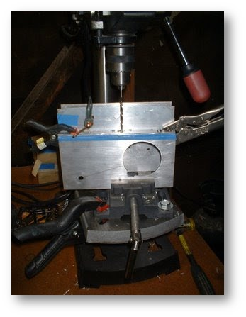 drilling motor mount holes
