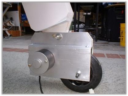 wheel motor installed
