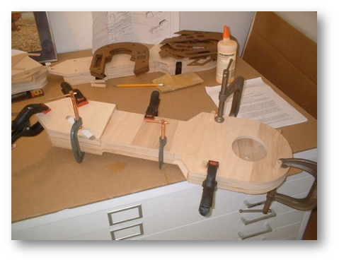 R2 legs glued and clamped